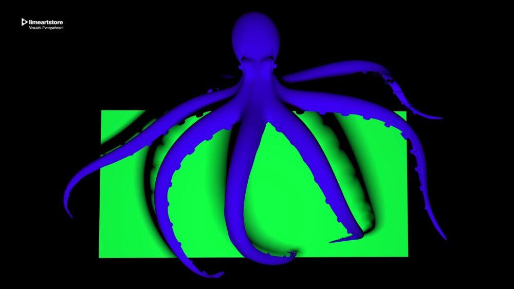 green screen octopus