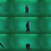 B-Boy-Break-Dance-Stand Green Screen Stock