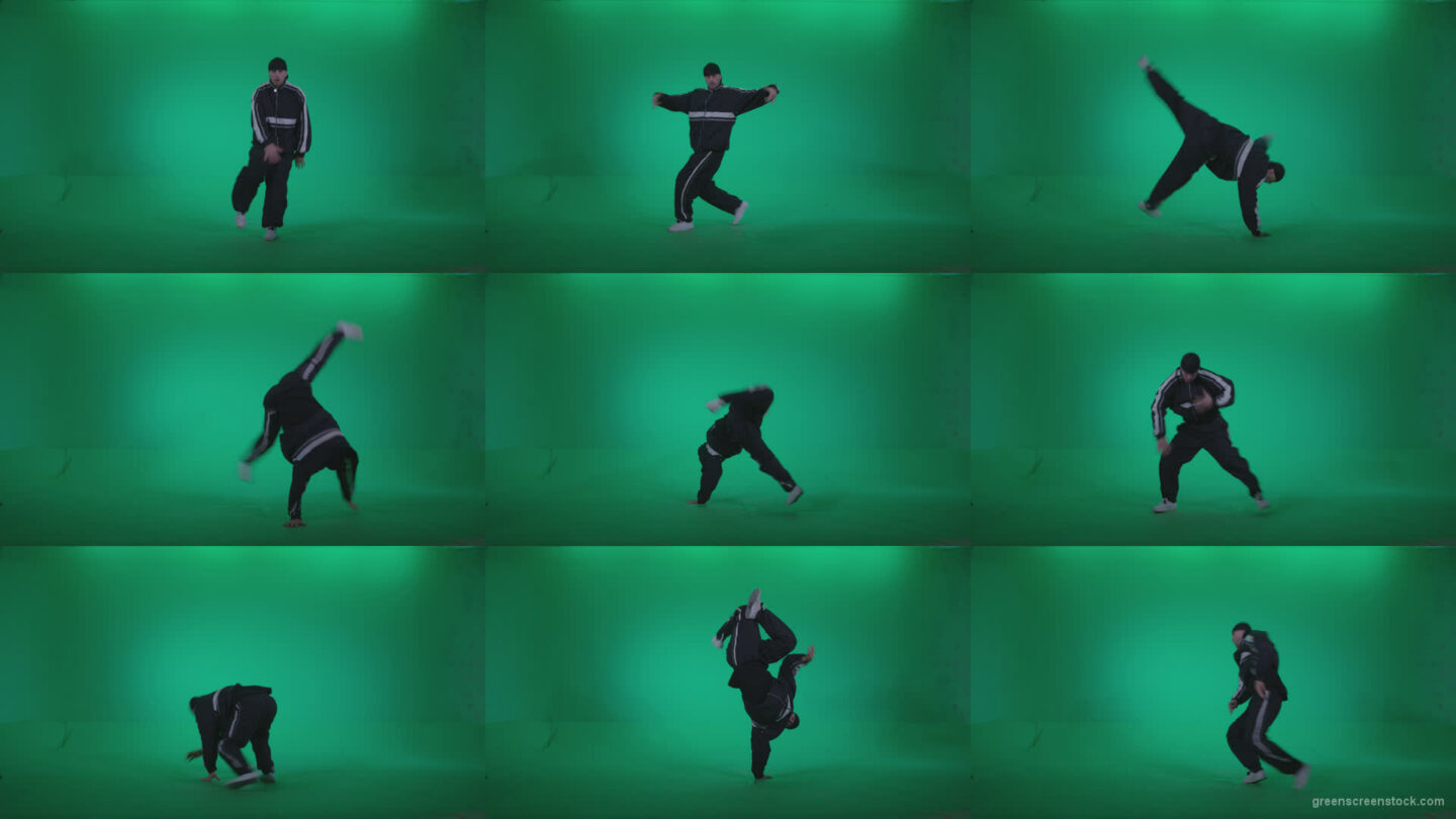 B-Boy-Break-Dance-b11 Green Screen Stock