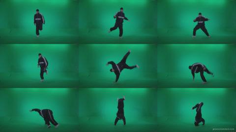 B-Boy-Break-Dance-b12 Green Screen Stock