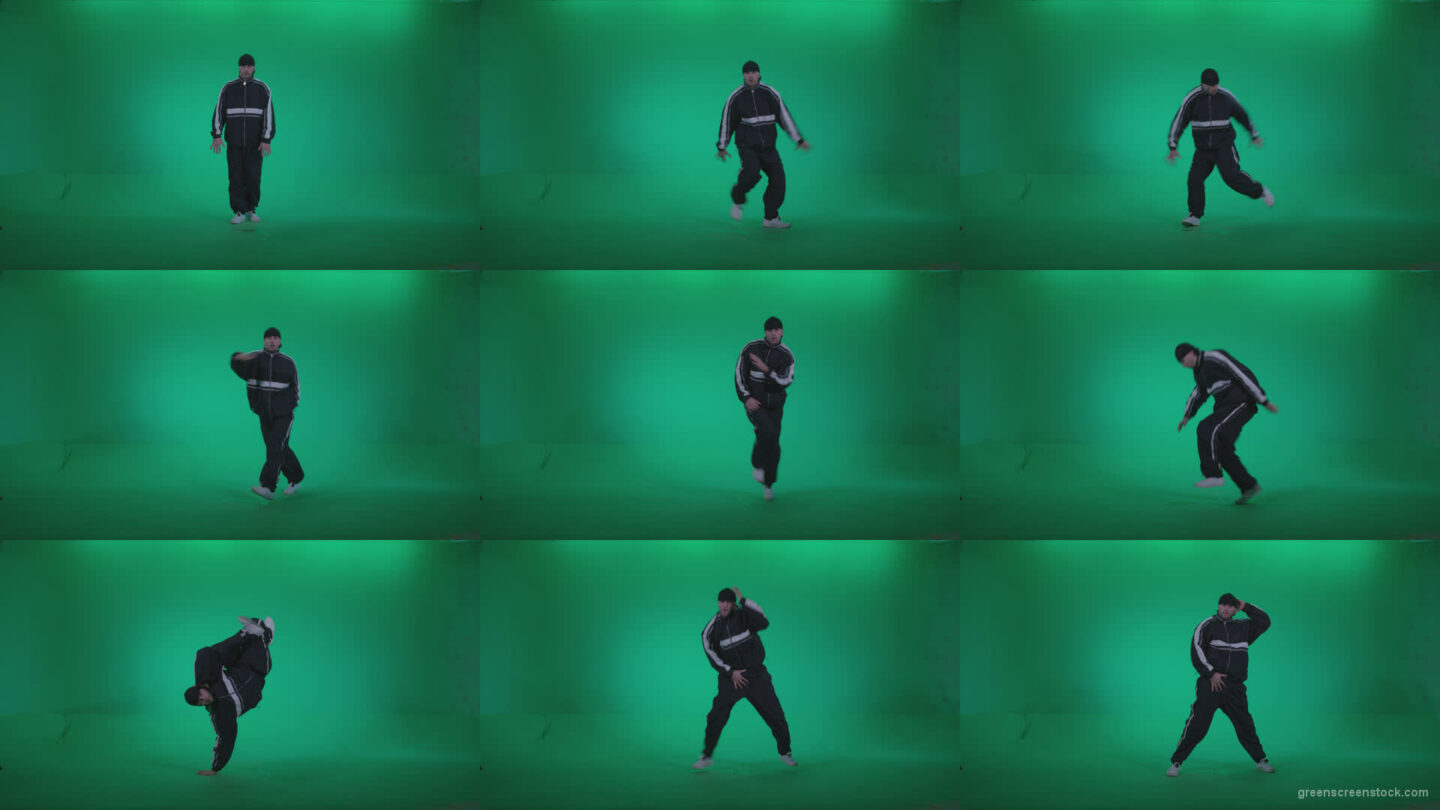 B-Boy-Break-Dance-b13 Green Screen Stock