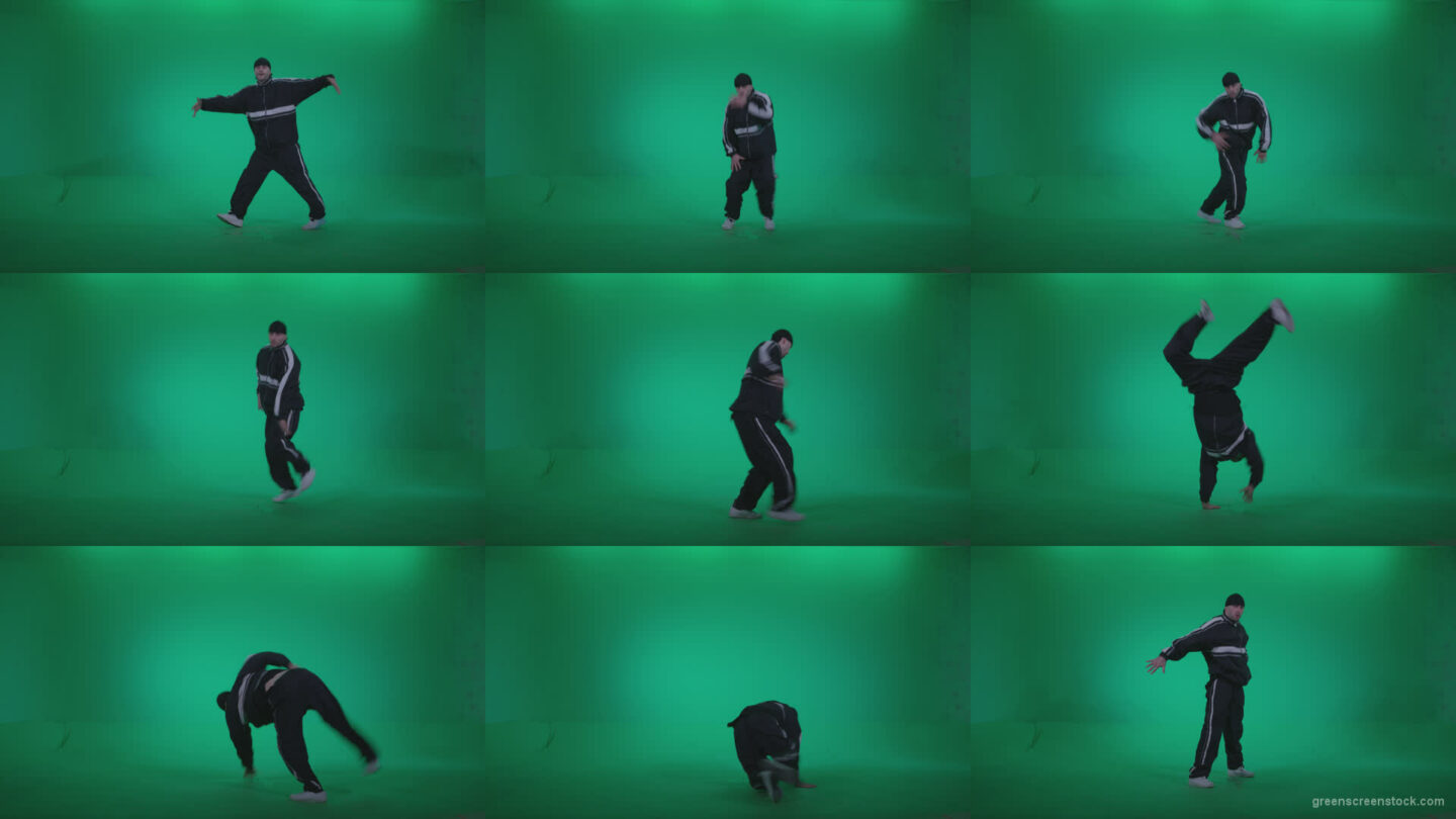 B-Boy-Break-Dance-b15 Green Screen Stock