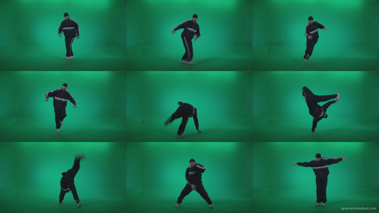 B-Boy-Break-Dance-b16 Green Screen Stock