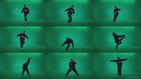 B-Boy-Break-Dance-b16 Green Screen Stock