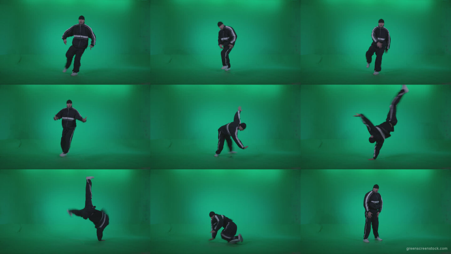 B-Boy-Break-Dance-b17 Green Screen Stock