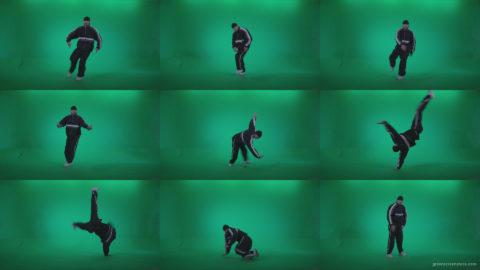 B-Boy-Break-Dance-b17 Green Screen Stock