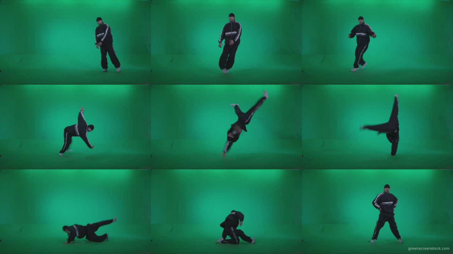 B-Boy-Break-Dance-b19 Green Screen Stock
