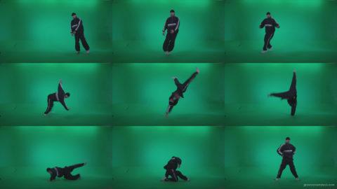 B-Boy-Break-Dance-b19 Green Screen Stock
