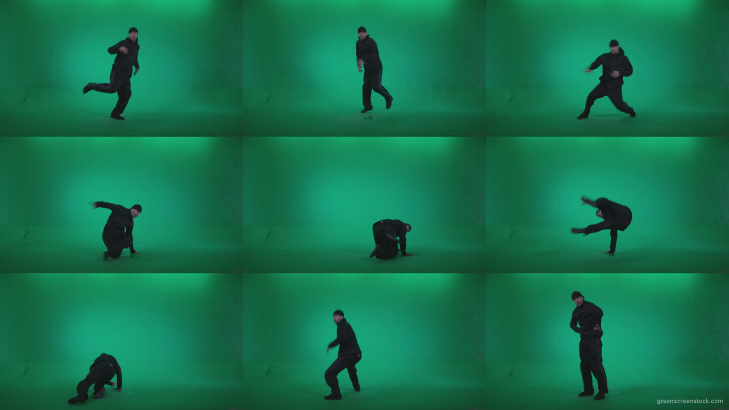 B-Boy-Break-Dance-b3 Green Screen Stock