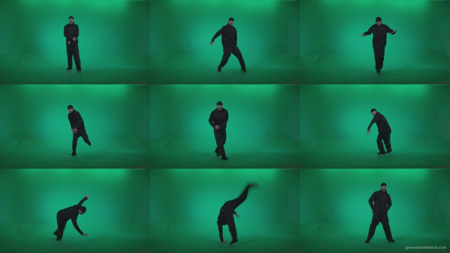 B-Boy-Break-Dance-b4 Green Screen Stock