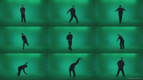 B-Boy-Break-Dance-b4 Green Screen Stock