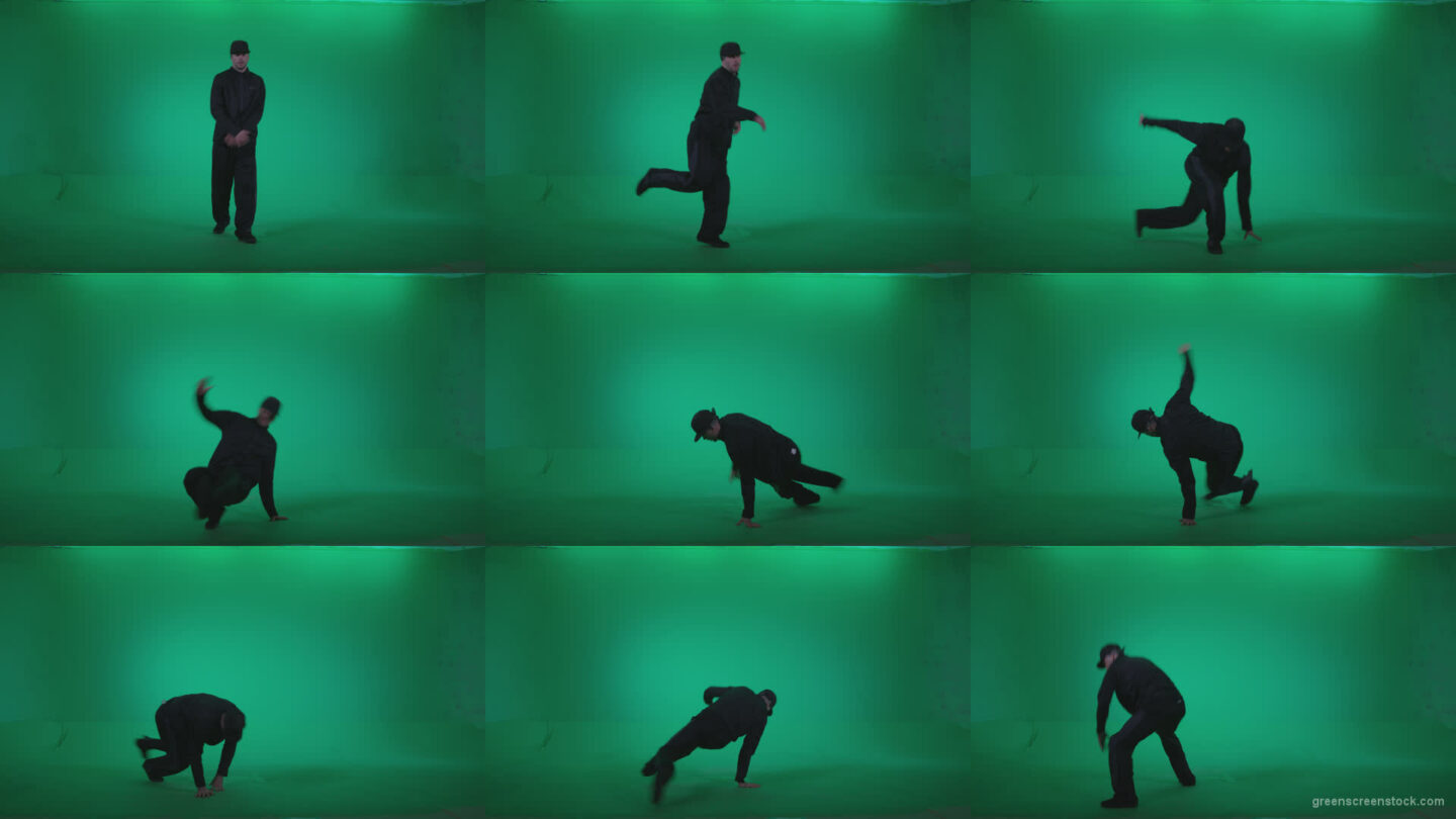 B-Boy-Break-Dance-b6 Green Screen Stock