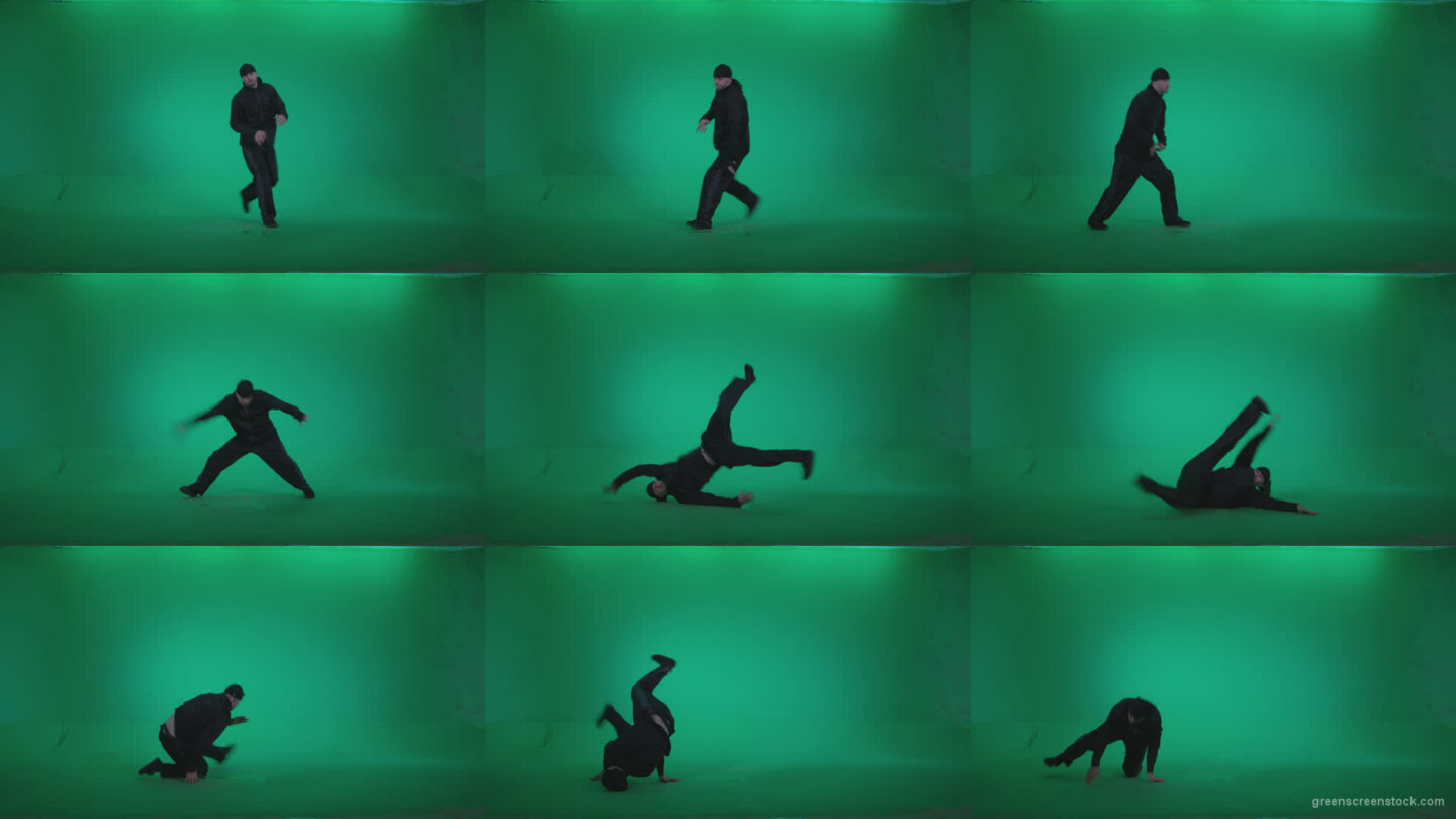 B-Boy-Break-Dance-b7 Green Screen Stock