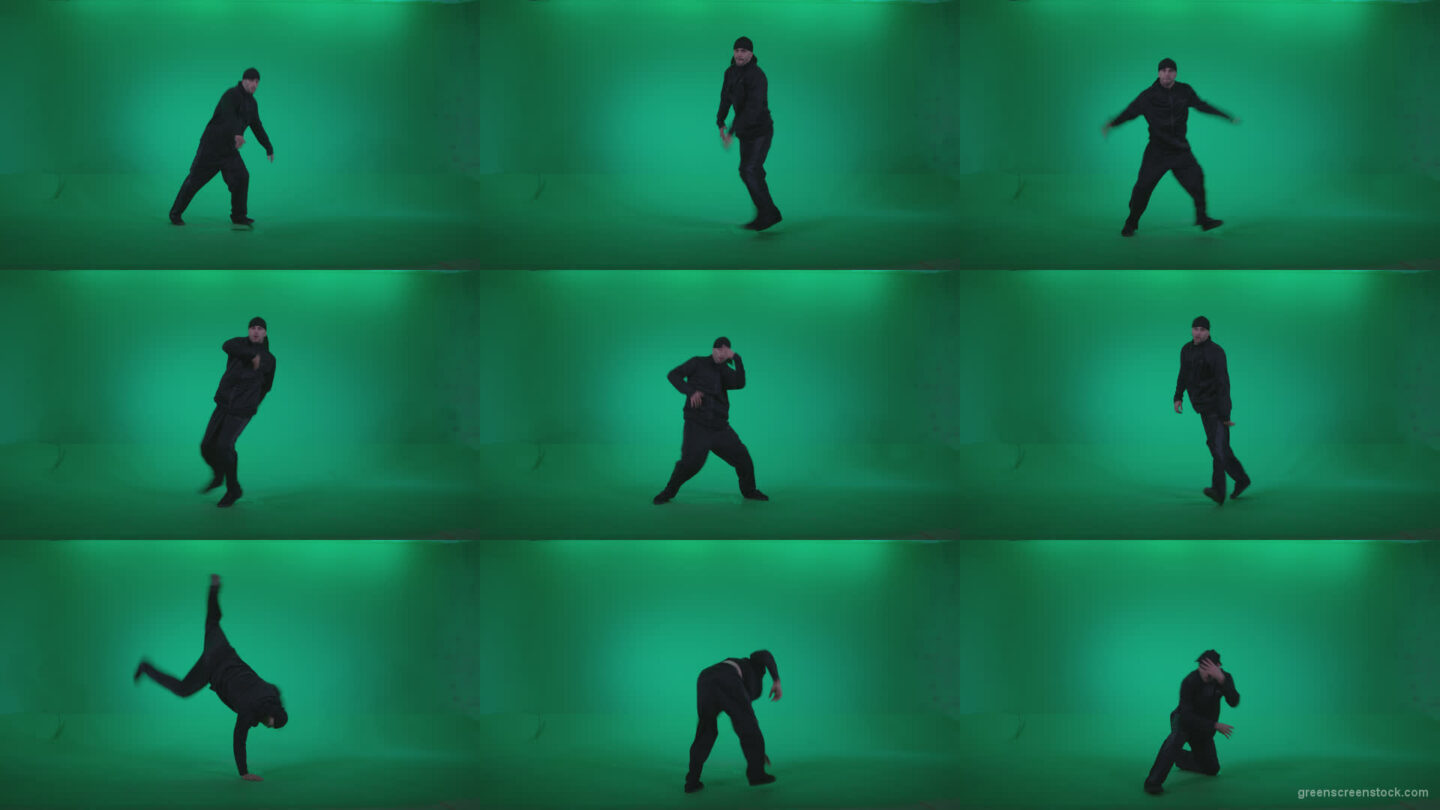 B-Boy-Break-Dance-b8 Green Screen Stock