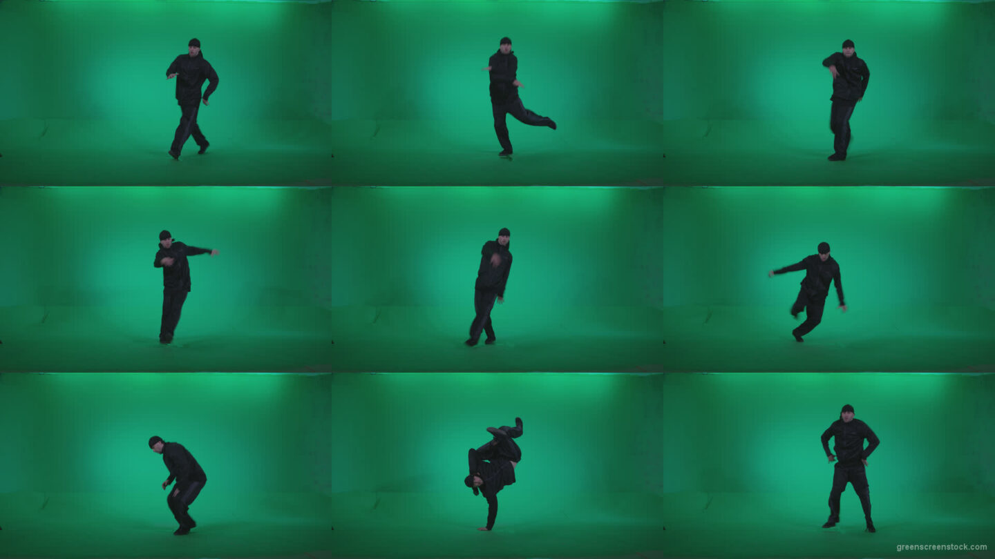 B-Boy-Break-Dance-b9 Green Screen Stock