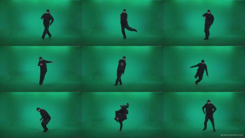 B-Boy-Break-Dance-b9 Green Screen Stock