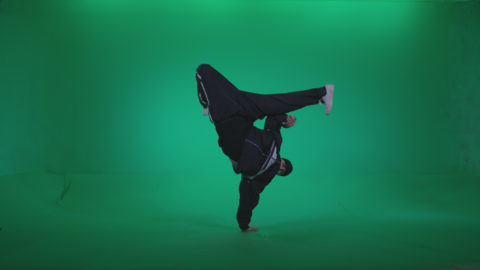B-Boy-Hand-Stand_007 Green Screen Stock
