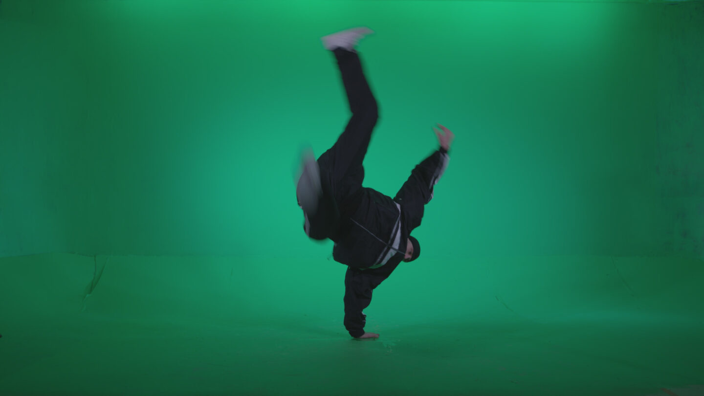 B-Boy-Hand-Stand_008 Green Screen Stock