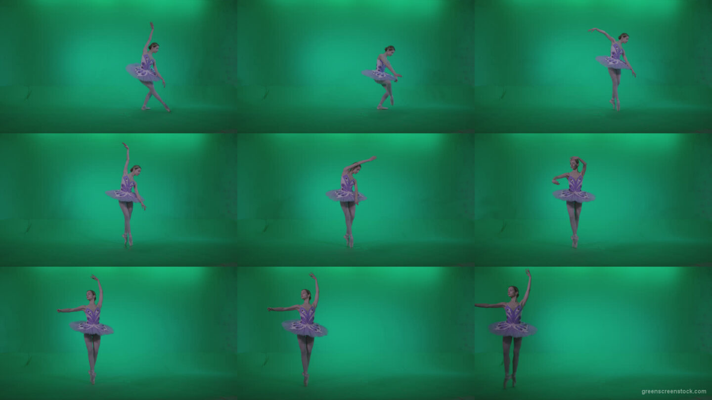 Ballet-Purple-Costume-p3 Green Screen Stock