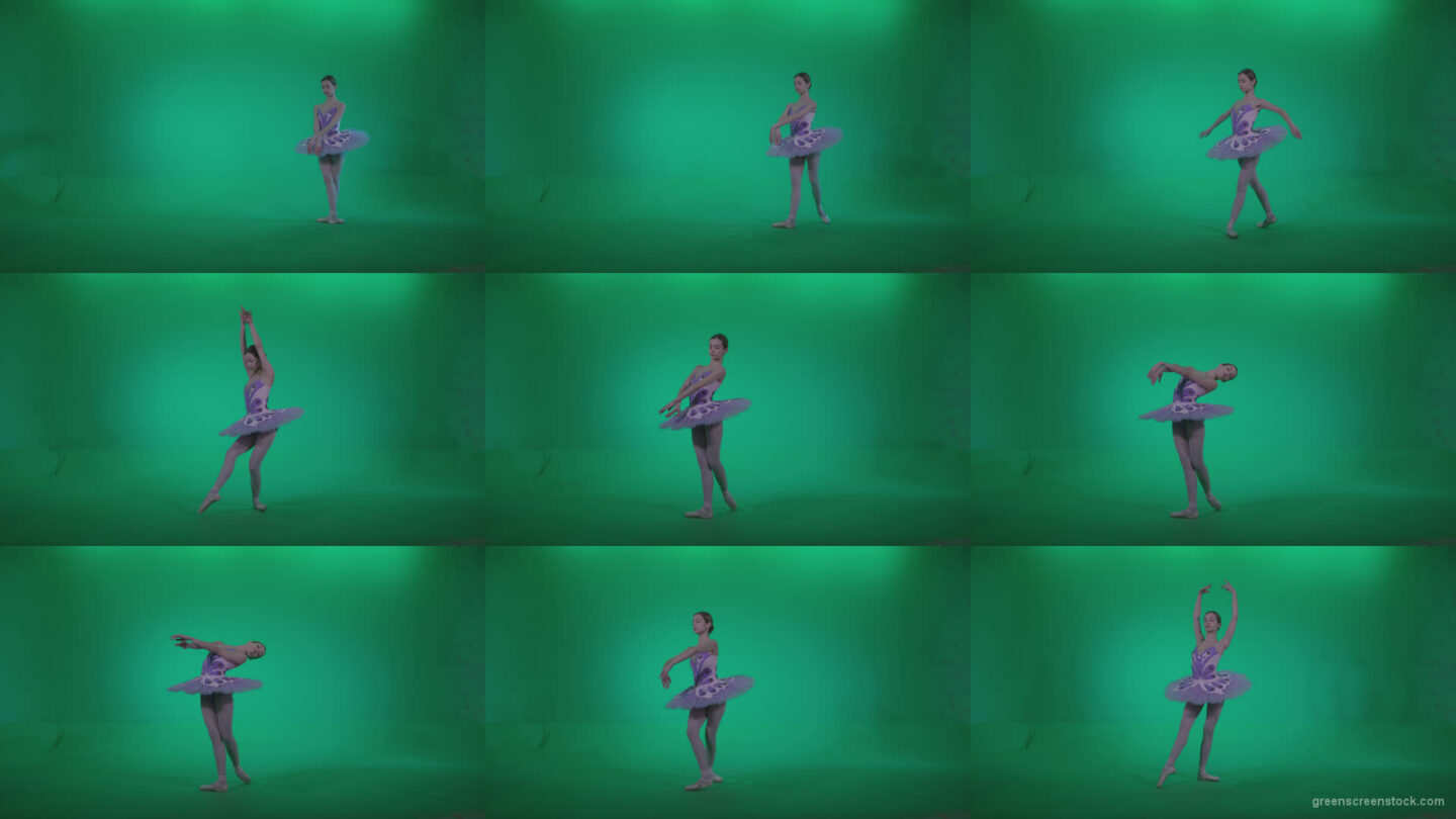 Ballet-Purple-Costume-p4 Green Screen Stock