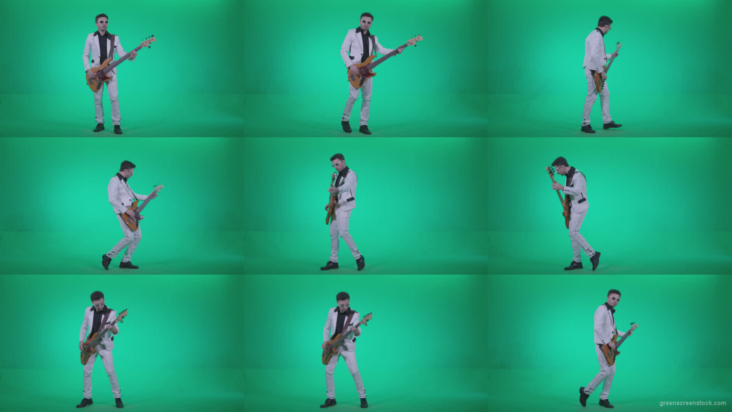 Bass-Jazz-Performer-3 Green Screen Stock