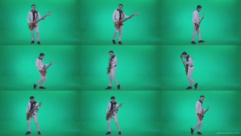 Bass-Jazz-Performer-3 Green Screen Stock