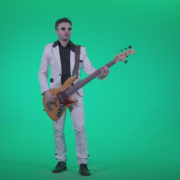 Bass-Jazz-Performer-3_001 Green Screen Stock