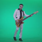 Bass-Jazz-Performer-3_002 Green Screen Stock