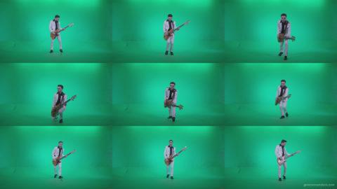 Bass-Jazz-Performer-6-Green-Screen-Video-Footage Green Screen Stock