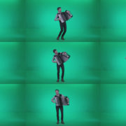 Black-Accordion-Virtuoso-performs-2 Green Screen Stock
