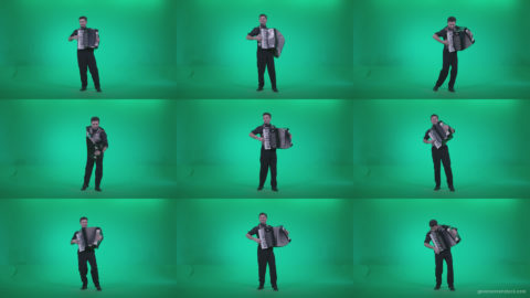 Black-Accordion-Virtuoso-performs-ba11-Green-Screen-Video-Footage Green Screen Stock