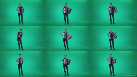 Black-Accordion-Virtuoso-performs-ba5-Green-Screen-Video-Footage Green Screen Stock