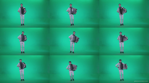 Black-Accordion-Virtuoso-performs-ba9-Green-Screen-Video-Footage Green Screen Stock