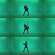 Black-Guitarist-Playhard-Z4 Green Screen Stock