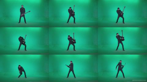 Black-Guitarist-Playhard-Z4 Green Screen Stock