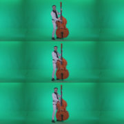Contrabass-Jazz-Performer-j10-Green-Screen-Video-Footage Green Screen Stock
