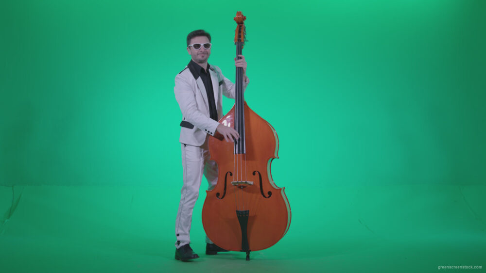 vj video background Contrabass-Jazz-Performer-j10-Green-Screen-Video-Footage_003