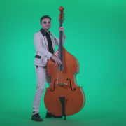 Contrabass-Jazz-Performer-j10-Green-Screen-Video-Footage_004 Green Screen Stock