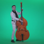 Contrabass-Jazz-Performer-j10-Green-Screen-Video-Footage_006 Green Screen Stock