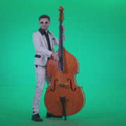 Contrabass-Jazz-Performer-j10-Green-Screen-Video-Footage_008 Green Screen Stock