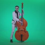 Contrabass-Jazz-Performer-j11-Green-Screen-Video-Footage_001 Green Screen Stock
