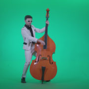Contrabass-Jazz-Performer-j11-Green-Screen-Video-Footage_005 Green Screen Stock