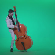 Contrabass-Jazz-Performer-j11-Green-Screen-Video-Footage_007 Green Screen Stock