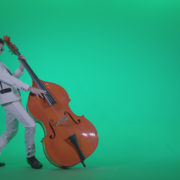 Contrabass-Jazz-Performer-j11-Green-Screen-Video-Footage_008 Green Screen Stock