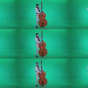 Contrabass-Jazz-Performer-j12-Green-Screen-Video-Footage Green Screen Stock