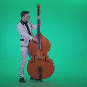Contrabass-Jazz-Performer-j12-Green-Screen-Video-Footage_001 Green Screen Stock