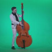 Contrabass-Jazz-Performer-j12-Green-Screen-Video-Footage_005 Green Screen Stock