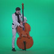 Contrabass-Jazz-Performer-j12-Green-Screen-Video-Footage_006 Green Screen Stock