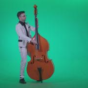 Contrabass-Jazz-Performer-j12-Green-Screen-Video-Footage_007 Green Screen Stock