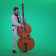 Contrabass-Jazz-Performer-j12-Green-Screen-Video-Footage_009 Green Screen Stock